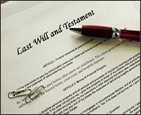 Image of Last Will and Testament, inheritance scam