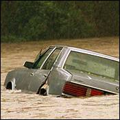 Image of car under water